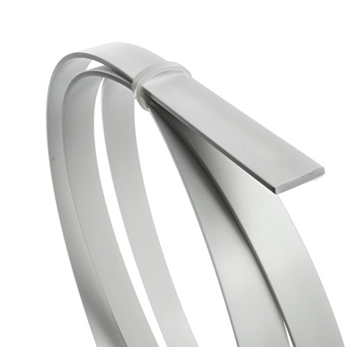 StewMac White ABS Plastic Binding, 65 Inches (1651mm) long by .090'' x .565'' (2.29mm x 14.35mm) - 4 Pack by StewMac (Image #1)