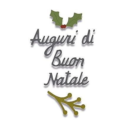 Immagini Con Scritte Di Buon Natale.Sizzix 662156 Fustella Auguri Di Buon Natale Best Christmas Wishes