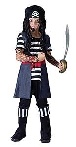 Disfraz de niño de Pirata con Tatuajes. 6 - 9 años