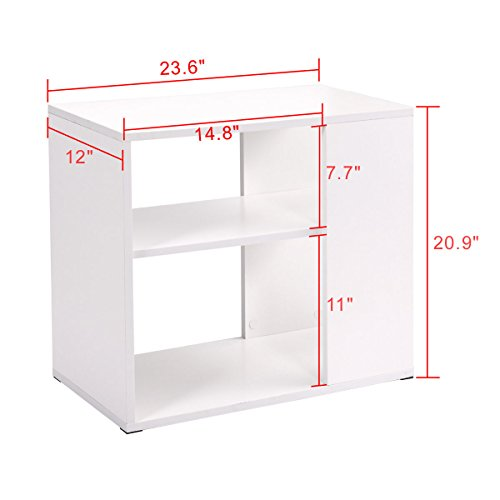 Side Sofa Table Coffee Tray Ottoman Couch Console Stand End Magazine Organizer White by Eramaix (Image #2)
