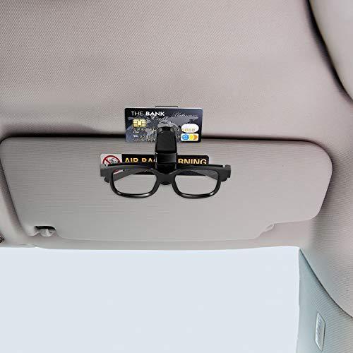Car Sunglasses Clip Sunglasses Holder for Car Sun Visor Sun Visor Clip 2 Pcs Glasses Hanger Mount with Card Clip Glasses Holder for Car Sun Visor Sunglasses with Card Clip