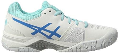 Weiß Gel Splash Blue Challenger 11 Aqua Diva Tennisschuhe Asics White Damen XAxUXT