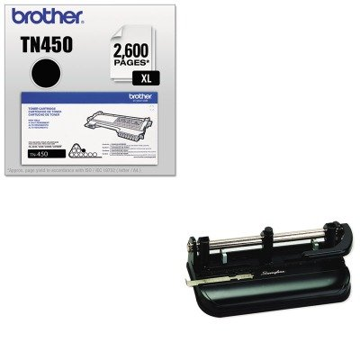 KITBRTTN450SWI74350 - Value Kit - Swingline 32-Sheet Lever Handle Two- to Seven-Hole Punch (SWI74350) and Brother TN450 TN-450 High-Yield Toner (BRTTN450)