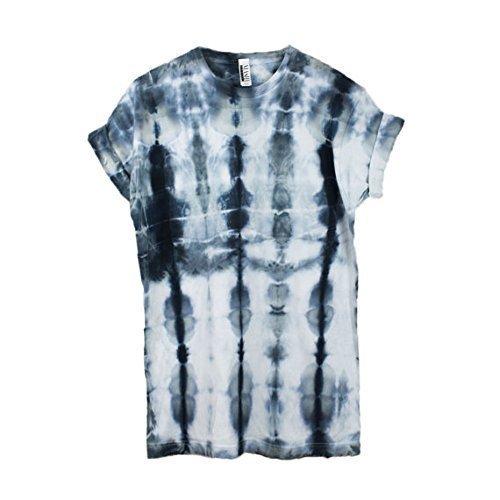 Linear Black Tie Dye Unisex T-Shirt Pattern Shirt short Sleeve Plus Size S, M, L, XL, XXL, XXXL