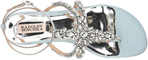 Flat Mischka Badgley Blue Sandal Hampden Women's Crystal qP8Z7F