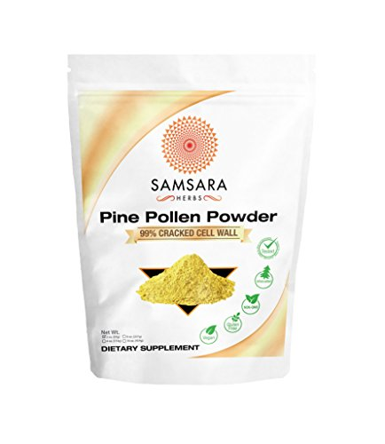 Pine Pollen Powder Wild Harvested - 99% Cracked Cell Wall (Cracked Wall)