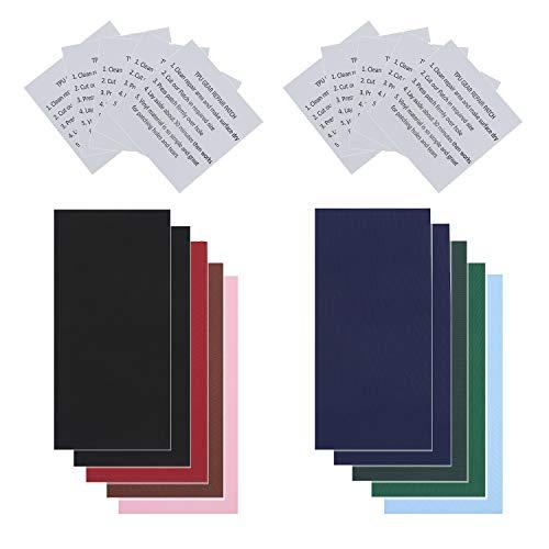 HELHUNLEE 20 Stück Reparatur Patches Selbstklebende Nylon Patch Wasserdicht Leichte Reparatur Patches voor Reparatur…