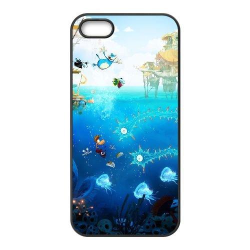 Origines de Rayman K6P70 U1I3YA coque iPhone 5 5s cellulaire cas de téléphone couvercle coque noire KT4QPQ8KL