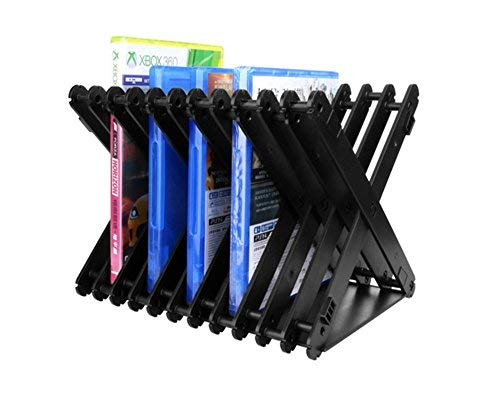 Busgirl Xbox One PS4 Multifunctional Game Disk Storage Tower Holder, Folding Disc Storage Stand Bracket Holder CD/DVD Storage Rack for PS4, PS4 Pro, Xbox one, Xbox 360, DVDs, PS4 and Xbox Video Games