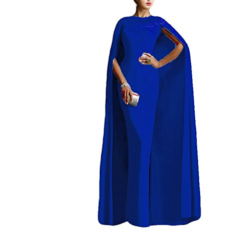 - Ellenhouse Women's Long Mermaid Formal Gown Prom Evening Dresses with Cape EL349