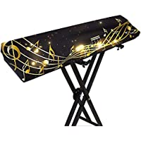 88 Keys Piano Keyboard Cover, Stretchable 61 Keys Piano Dustproof Cover, Adjustable Electric/Digital Piano Stretchable…