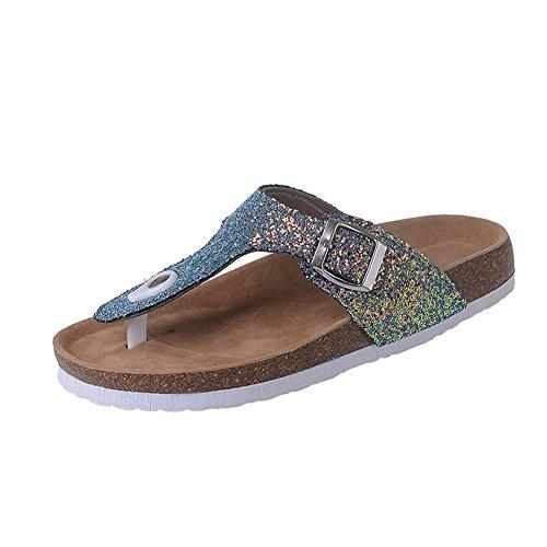 Sequin Sandals Flipflops Green Beach Sandals Sequin Women's Purple Slide fereshte aSqx56S