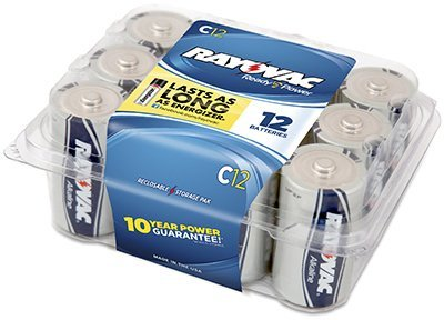Spectrum/Rayovac 814-12PP Ray O Vac 12-Pack ''C'' Maximum Alkaline Pro Pack Batteries - Quantity 8 by Rayovac