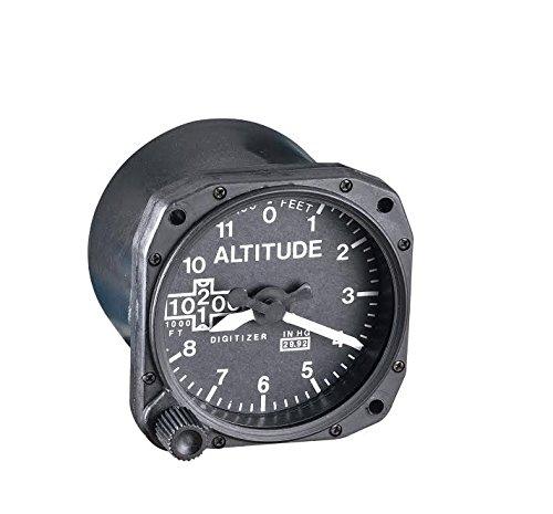Replica Desk Clock (Replica Altimeter Aviation Instrument Display Desk Clock with Quartz Movement)
