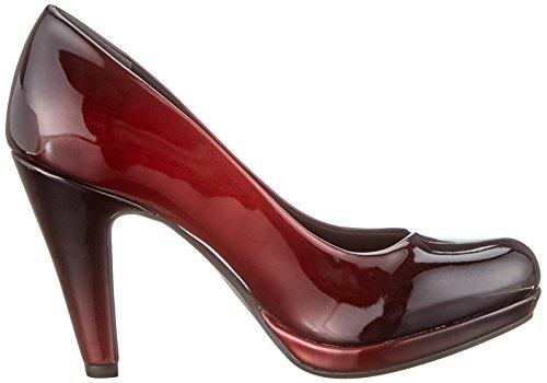 De 552 22410 Rojo com Pat Tacón Mujer 2 Zapatos Para 552 Tozzi 31 2 merlot Marco Aw0q4Z