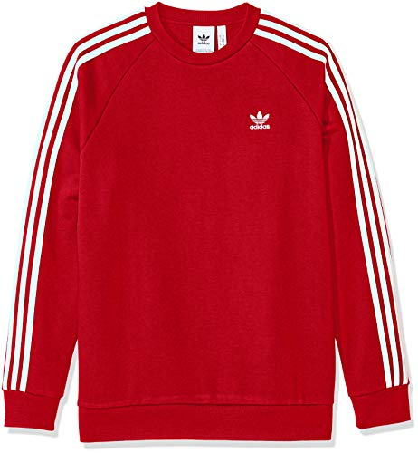 adidas Originals Men's 3-Stripes Crew, Power red, ()