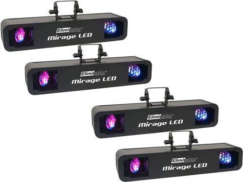 Eliminator Mirage LED Effect Light 4-Pack - Moonflower Rotating Effect Led