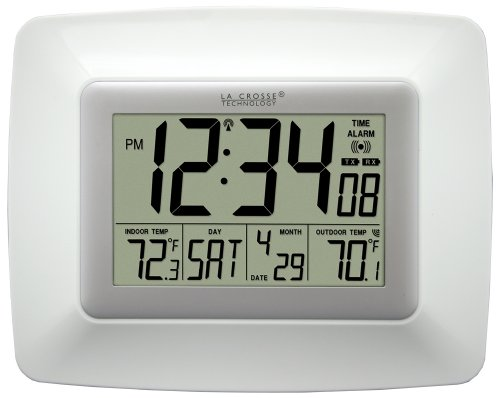 La Crosse Technology WS-8119U-IT-W Atomic Clock with Temperature