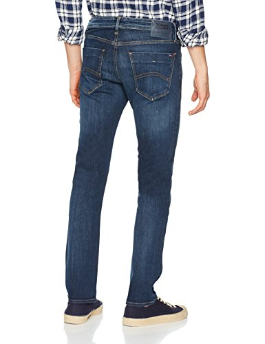 Tommy Azul Vaqueros para Dark Jeans Hombre Dytdst Scanton Slim True 911 Dynamic Stretch qwaqWgr6