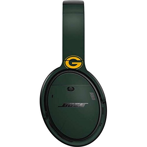Skinit NFL Green Bay Packers Bose QuietComfort 35 Headphones Skin - Green Bay Packers Green Performance Series Design - Ultra Thin, Lightweight Vinyl Decal Protection by Skinit