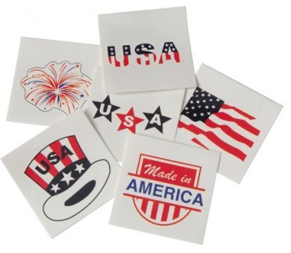 UST 288 Pieces ~ Patriotic Temporary Tattoos ~ for $<!--$13.99-->
