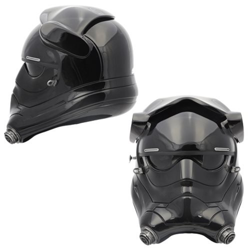 ANOVOS Star Wars The Force Awakens First Order TIE Fighter Pilot Helmet Premier Line Prop Replica Helmet Completed Ready to Wear Helmet