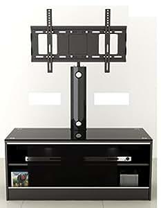 """LED/LCD/Plasma negro satinado Acabado MDF TV con soporte TV pantalla plana de hasta 52"""""""