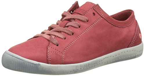 Softinos Damen Isla Washed Sneaker Rot (rosso - 554)