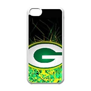 NFL iPhone 5c White Cell Phone Case Green Bay Packers QNXTWKHE2690 NFL Design 3D Phone Case Cover