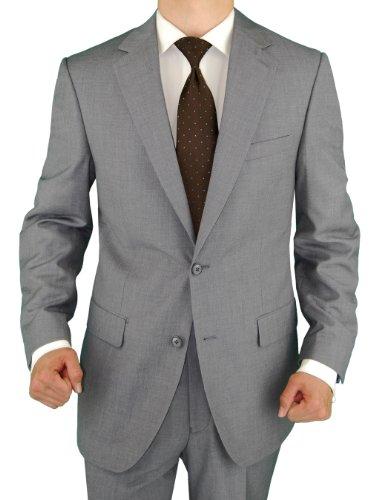 Salvatore Exte Men's 2 Button Light Gray Suit