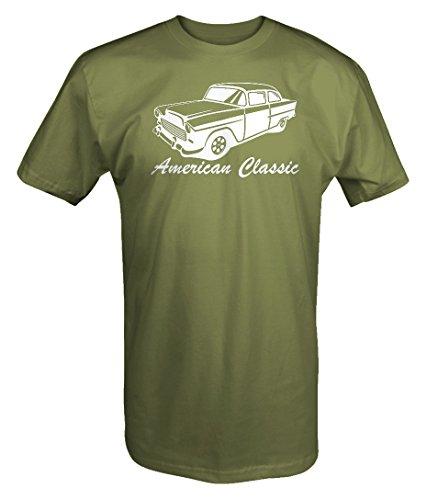 American Classic 1955 56 57 58 59 Chevy Bel Air Custom Classic T shirt - Xlarge Bel Air Classic Car T-shirt