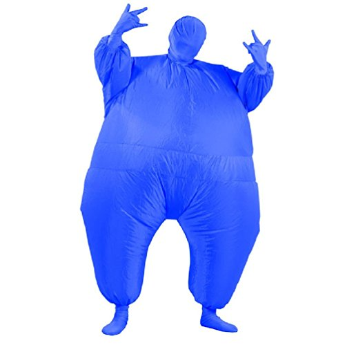 Full Body Fat Suit Costume (Air Blown Adult Inflatable Chub Suit Full Body Costume Fat Air Suit Blow Up Jumpsuits Fancy Dress Halloween Christmas Party)