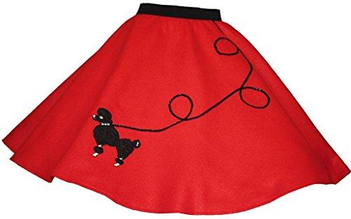 (3 BIG NOTES - Children FELT Poodle Skirt Size Medium (Waist: 22