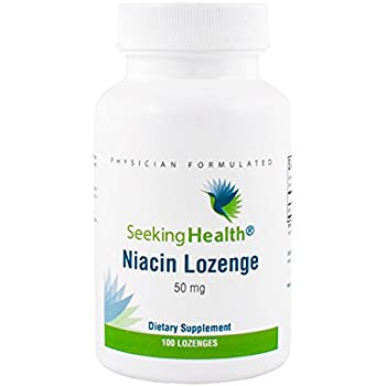Niacin Lozenge | Provides 50 mg of Niacin in easy-to-deliver lozenge | Vitamin B3 | Free of Magnesium Stearate | Non-GMO | Natural Cherry Flavor | Physician Formulated | 100 Lozenges | Seeking Health