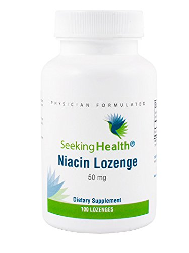Niacin Lozenge | Provides 50 mg of Niacin in easy-to-deliver lozenge | Vitamin B3 | Free of Magnesium Stearate | Non-GMO | Natural Cherry Flavor | Physician Formulated | 100 Lozenges | Seeking Health - Nicotinic Acid Niacin