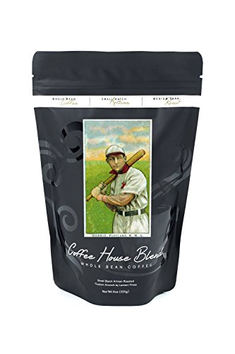 Portland Northwestern League - Harris - Baseball Card (8oz Whole Bean Small Batch Artisan Coffee - Bold & Strong Medium Dark Roast w/ (Harris Baseball)