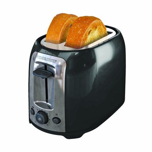 BLACK+DECKER TR1278BD 2-Slice Toaster, Black