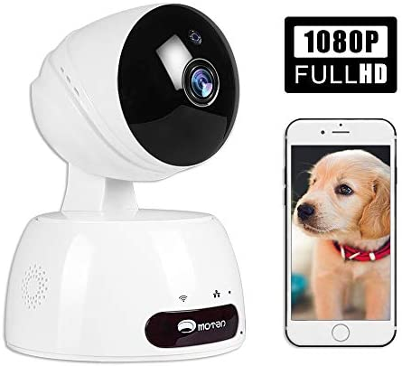 Pet Camera, Dog Camera with Phone App Full HD WiFi Indoor Cat Camera Pet Monitor Night Vision 2 Way Audio Motion Detection Alexa White