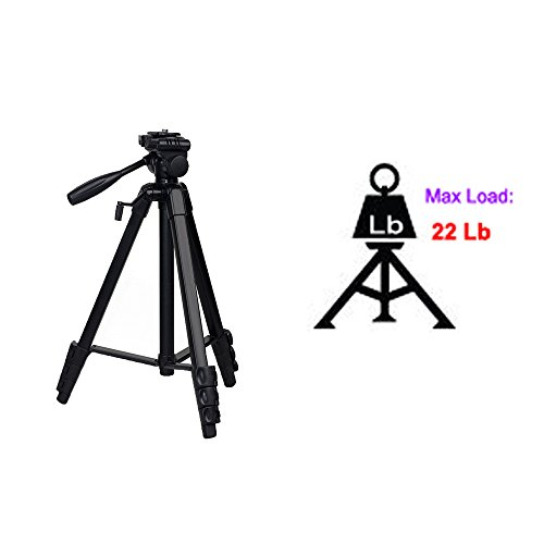 60'' BY-668 UNC 1/4 Professional universal digital camera tripod foldable and mobile clip for all camera mount