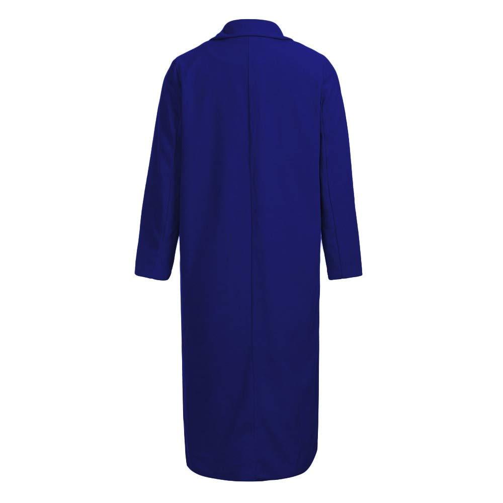 Overdose Invierno Mejor Venta Mujeres CáLido Abrigo Largo Solapa Moda SeñOra Modelo Parka Jacket Cardigan Overcoat Outwear: Amazon.es: Ropa y accesorios