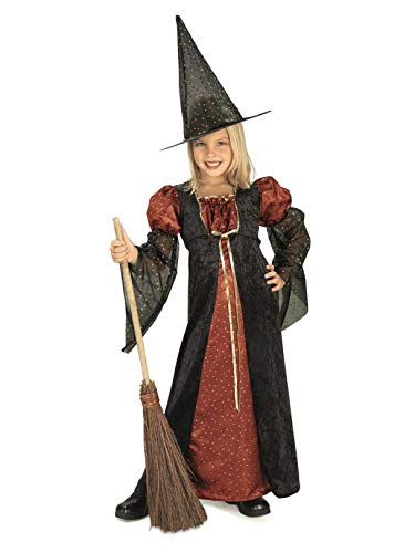 Halloween Concepts Child's Orange Glitter Witch Costume, -