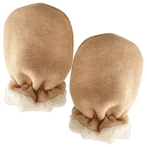 (Newborn Baby Winter Fleece Gloves Mittens Infant Toddler Anti-Scratch Gloves Thicken Sherpa Lined Mitten For 0-24 Month)