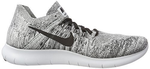 2017 Running stealth Black Women's pure Platinum White Shoe Flyknit RN NIKE Free nzawXqqI