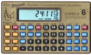 Price comparison product image Jobber 6 Construction Calculator by Jobber Instruments