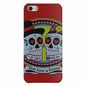 LX A Couple of Skulls Pattern PC Hard Back Cover Case for iPhone 5/5S Phone Cases