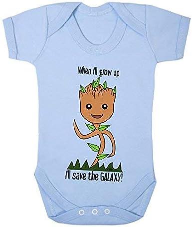 Colour Fashion Groot i Ll Risparmia The Galaxy Supereroe Divertente Costume Tuta 100/% Cotton 0-24