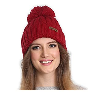 Brook + Bay Pom Pom Beanie Stay Warm & Stylish Thick, Soft & Chunky Cable Knit Beanie Hats for Women & Men Serious Beanies for Serious Style