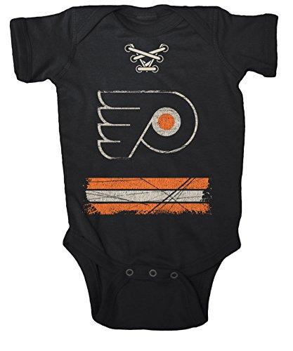 - NHL Philadelphia Flyers Beeler Vintage Infant Jersey Creeper, 24-Months, Black