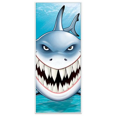 Scary SHARK Attack DOOR COVER - Banner - 30