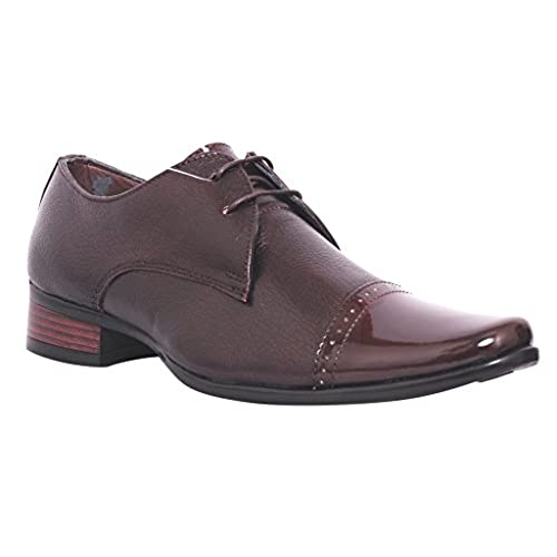 Pure Leather Formal Shoes G-1875-Brown